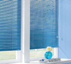 Why not add a bit of intense colour to make a statement in your room? Blue Aluminium Venetian Blinds   Bolton Blinds  