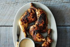 Kevin Gillespie's Barbecue Chicken with Alabama White Barbecue Sauce on Food52