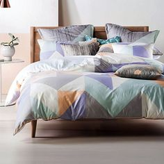 Linen House Equinox Quilt Cover Set, Pastel