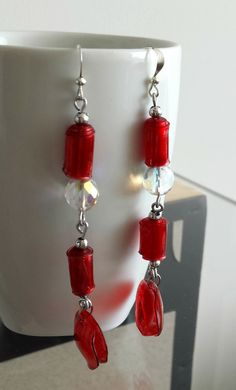 Items similar to elegant long earrings on Etsy Plastic Earrings, Drop Earrings, Elegant, Trending Outfits, Awesome, Unique Jewelry, Handmade Gifts, Diy, Vintage