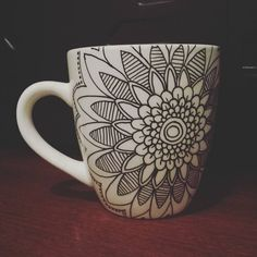 Hand Decorated Mandala Mug---SPECIAL ORDER--- https://www.etsy.com/shop/KaysPlatesofJoy
