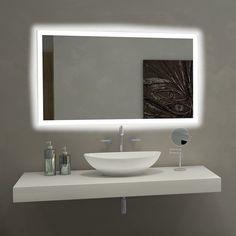 Paris Mirror Rectangle Bathroom Mirror with LED Backlights 6000D - RECT20286000D #BathroomMirror