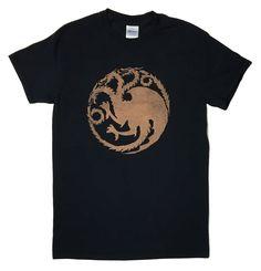 House Targaryen Dragon Sigil Game of Thrones Bleached T-shirt by DanasJumble on Etsy
