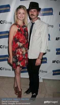 Actors Whitney Able and Scoot McNairy attend the 2008 LAFF IFC and Blockbuster party at the Sunset Marquis Hotel & Villas on June 24, 2008 in West Hollywood, California