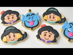 It's all about Disney's Aladdin today. In this video I show you how to make Jasmine, Aladdin and Genie Cookies. I show you step by step how do make outlines ...