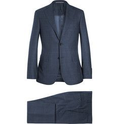 CanaliNavy Prince of Wales Check Wool Suit