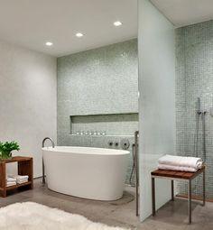 Modern Bathroom + Flotaki Rug = Perfection