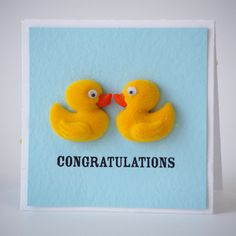 NL Duck Congratulations Mini Card