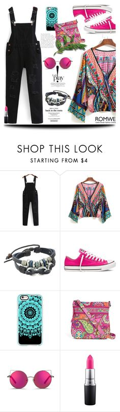 """""""Pocket Jumpsuit"""" by jecakns ❤ liked on Polyvore featuring Converse, Casetify, Vera Bradley, Matthew Williamson and MAC Cosmetics"""