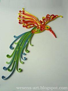 Wesens-Art: Quilling Vogel / Quilling Bird