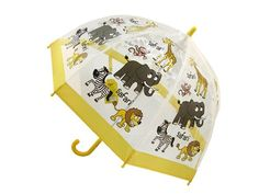 Childrens PVC Safari Umbrella - It's a jungle out there but your kids will be well protected from the elements with our Safari Children's PVC cartoon umbrella. This range of superb children's umbrellas has been tested to comply fully with strict European safety regulations. The Children's PVC Safari influenced cartoon umbrella has pictures of the stereotypical jungle style animals roaming around the dome.
