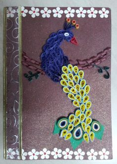 Quilled Peacock - Crafts by Sneha Garg in Cards at touchtalent 26662