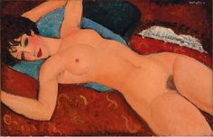 View Nu couché by Amedeo Modigliani on artnet. Browse upcoming and past auction lots by Amedeo Modigliani. Amedeo Modigliani, Modigliani Paintings, Oil Paintings, Jasper Johns, Willem De Kooning, Paul Gauguin, Jackson Pollock, Alberto Giacometti, Italian Painters