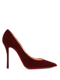 Click here to buy Christian Louboutin Decoltish 100mm velvet pumps at MATCHESFASHION.COM