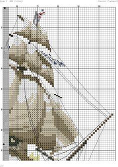 Схема для вышивки крестом: Корабль
