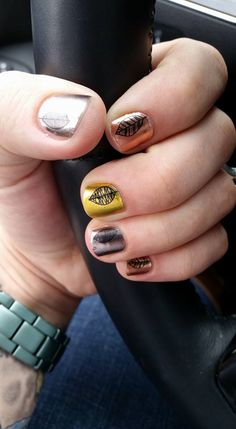 Fall Fancy Jamberry order yours today at  www.electranails.jamberry.com