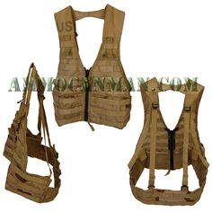 This Fighting Load Carrier Vest in Desert Camo is the ultimate in customization! - Ammo Can Man