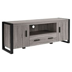 Reclaimed Wood TV Stand - Grey