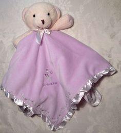 LOVEY Carters Princess Teddy Bear Baby Security Blanket Purple Lavender Rattle #Carters