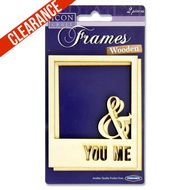 Wooden Square Frames - You Me You And I, Craft Supplies, Frames, Calm, Scrapbook, Artwork, You And Me, Work Of Art, Auguste Rodin Artwork