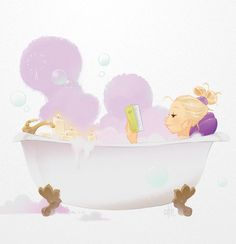 Relax yourself #candles / Rilassati #candele - Illust. by chhuy-ing (c h h u y - i n g !)