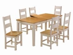 The Cotswold Cream & Oak Extending Dining Set is produced from a contrasting Oak & Ash finish. FADS offer FREE DELIVERY on all our products! Extendable Dining Table, Dining Bench, Dining Sets, Kitchen, Tables, Furniture, Cream, Home Decor, Dinner Sets