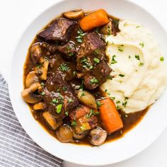 This gluten-free version of the classic French beef bourguignon recipe uses rice flour and a sauce reduction to achieve its signature heartiness. Get the recipe at Food & Wine.