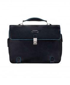 Per il lavoro #cartella piquadro 2 soffietti porta computer blue square blu notte. Sconto del 25% #Fashion #borsa