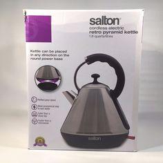 Salton Stainless Steel Retro Pyramid Kettle   eBay