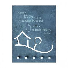 Schlüsselbrett Irischer Segen Haussegen Schiefer 21 cm 66276