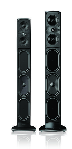 Mythos ST SuperTower Floor-standing ultra-performance loudspeaker with built-in powered subwoofers...