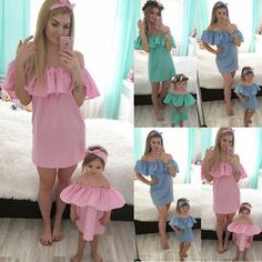 Matching Mom And Baby Outfit Gallery cute matching dresses fashion dresses Matching Mom And Baby Outfit. Here is Matching Mom And Baby Outfit Gallery for you. Matching Mom And Baby Outfit mommy and me fashion dresses christma. Mom And Baby Outfits, Matching Family Outfits, Newborn Outfits, Baby Girl Dresses, Toddler Outfits, Newborn Clothing, Summer Baby, Summer Girls, Party Summer