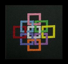 We Are All Linked Cross Stitch Pattern by BlueTopazStitchery