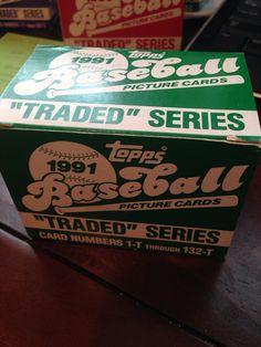 1991 Topps Traded Baseball Card Set by YesterYearAmericana on Etsy