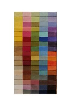 Rectangle Hand Tufted Rainbow Wool Rug - 2ft. x 4ft.