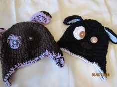 Made to Order, Crochet Puppy Dog Hats by Jayceescrochet -