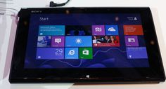 Sony Vaio Duo 11. Sony's answer to the 'Surface' tablet. Hybrid offering of a Windows 8 tablet looks very promising.
