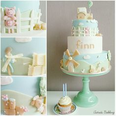 farm themed birthday cake - Cake by Astrids Bakkerij Themed Birthday Cakes, Birthday Cake Girls, Themed Cakes, Farm Birthday, Cupcakes, Cupcake Cakes, Farm Cake, Biscuits, Animal Cakes