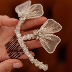 AVA Flower Wedding Hair Comb - olenagrin Women's Headbands, Headbands For Women, Wedding Hair Flowers, Hair Comb Wedding, Bridal Comb, Bridal Hair, Metal Comb, Ivory Pearl, Crystal Wedding