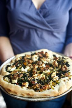 Balsamic Chard Pizza with Fig-Infused Goat Cheese...need we say more.