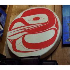 Keith Bell, born in Haida Gwaii - Raven Drum