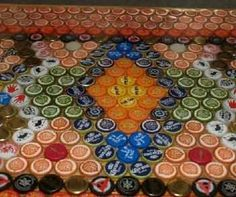 Great forum for instructions on bottle cap bar/table