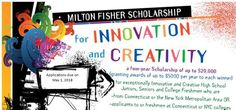 The Milton Fisher Scholarship for Innovation and Creativity is provided by the Community Foundation for high school junior, a high school senior or an undergraduate student. High School Students, High School Seniors, Honor Student, Community Foundation, Scholarships For College, Freshman, Higher Education, Fisher, Innovation