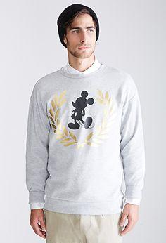 Metallic Mickey Mouse Sweatshirt | FOREVER21 - 2000117456