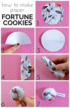 How to Make Paper Fortune Cookies - Include thoughtful fortunes for a get well gift, etc...