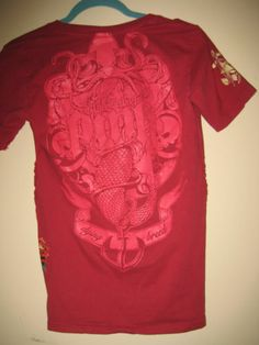 Blac Label Pink Dying Breed Skull Mermaid and Roses Tee Shirt Medium | eBay