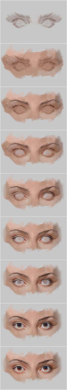 Eyes by vladgheneli ...@artcatFF采集到教程及练习(184图)_花瓣游戏