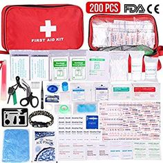 NEGRO Botiqu/ín primeros auxilios SUPER ROL con 120 art/ículos indispensables para realizar curas de emergencia