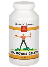 100% Pure Gelatin by Bernard Jensen Products - Buy 100% Pure Gelatin 14 Powder at the vitamin shoppe