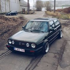 Oak Green VW Golf GTI on the to-do list today ftdi Golf 1, Volkswagen Golf Mk2, Vw Cars, Golf Lessons, Mk1, My Ride, Fast Cars, Cool Cars, Dream Cars